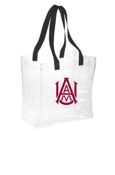 Image of Clear Stadium Bags- AAMU Logo