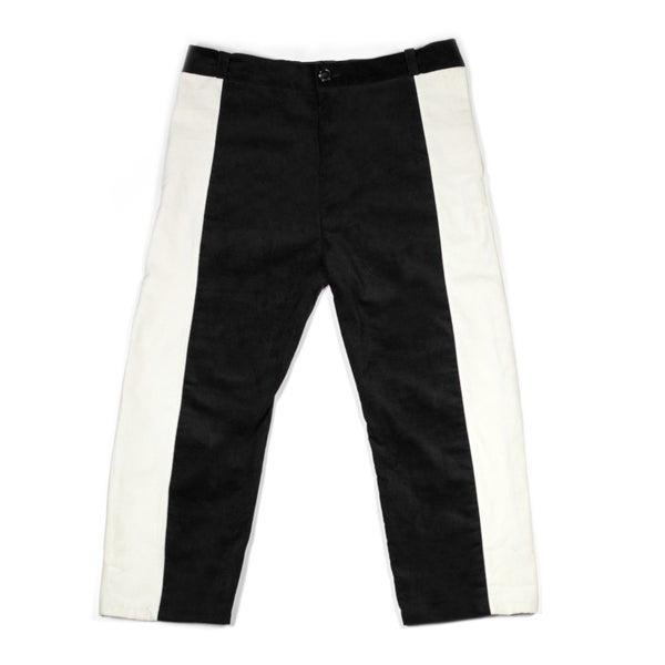 Image of Paneled Corduroy Trousers