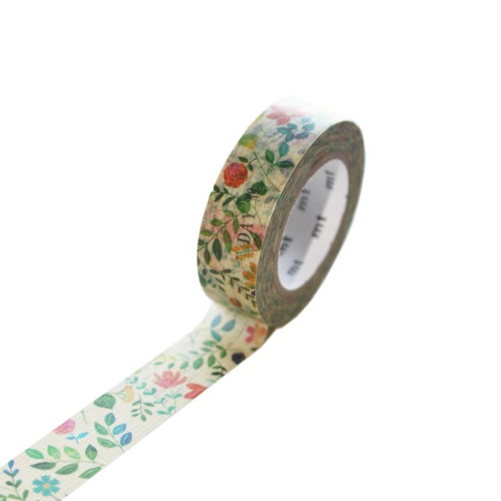 Image of MT Washi Tape - Watercolor Flower