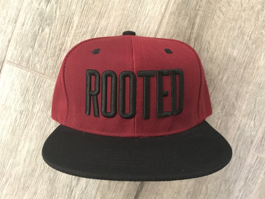 Image of Rooted Hat (Maroon)