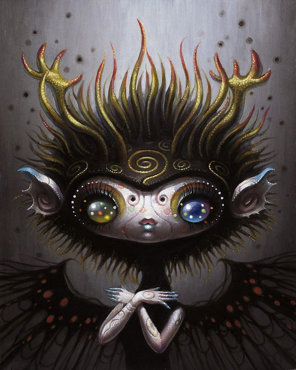 Image of Yoko d'Holbachie 'Black Winged Angel' original art