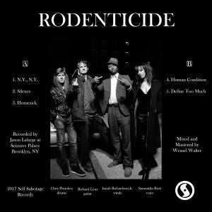 "Image of Rodenticide ""s/t"" LP, CD"