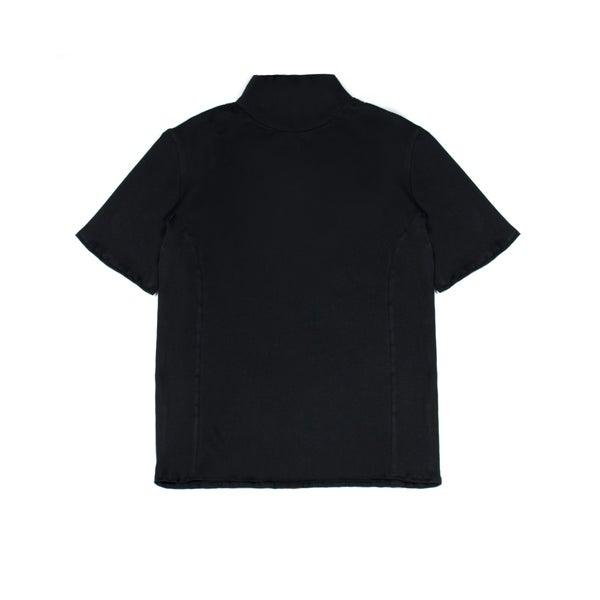 Image of High Neck Tee Black