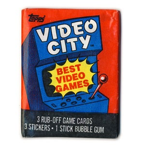 Image of VIDEO GAMES CARDS & STICKERS - VIDEO CITY - 1983