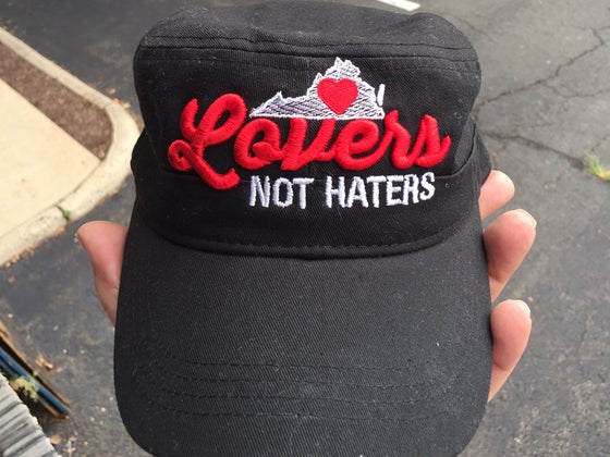 Image of Virginia Lovers not Haters 3D puff embroidered cap