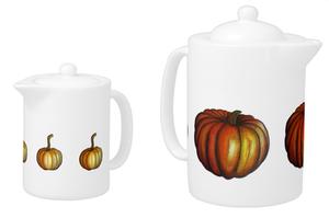 Image of Pumpkin Teapot Set