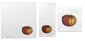 Image of Pumpkin Cloth Cocktail Napkin Set - 4