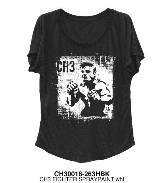 Image of Ch3 Ladies Fighter tee black