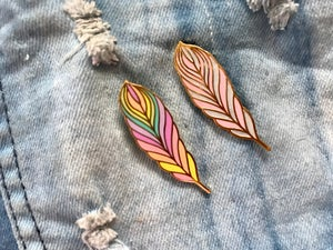 Image of Feather v. 2 Enamel Pin
