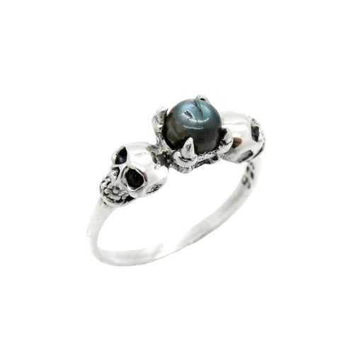 Image of Sterling Silver & Labradorite Till Death Ring Petite