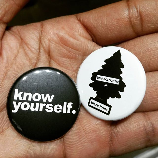 Image of Know Yourself and Fresh Black Pride Button