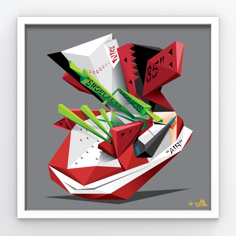 "Image of JCRo - Off-Chi'casso 20"" print"