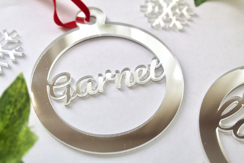 Image of Festive acrylic bauble gift set - bauble, bag and gift tag