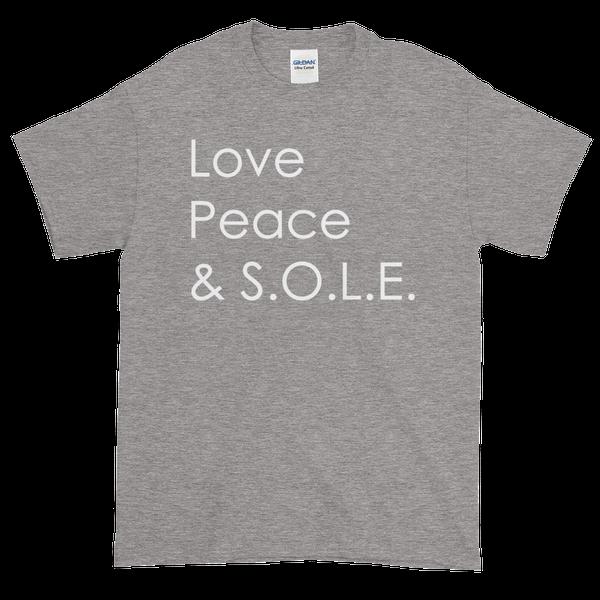 Image of Love Peace & S.O.L.E. Unisex Tee Sport Grey