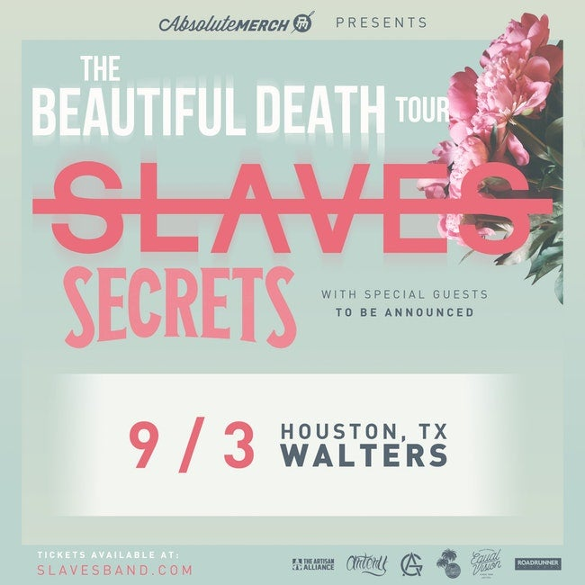 Image of Show entry for The Beautiful Death Tour ft. Slaves,Secrets, In Memory Of & more!