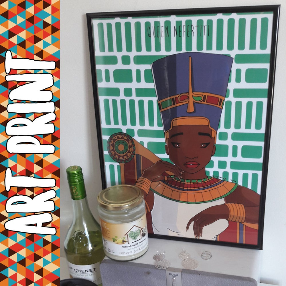 Image of Queen Nefertiti Art print