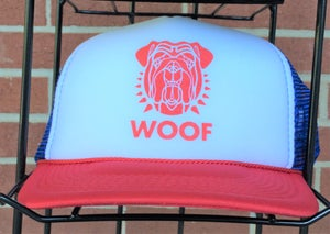 Image of Bulldog Trucker Hat - RED