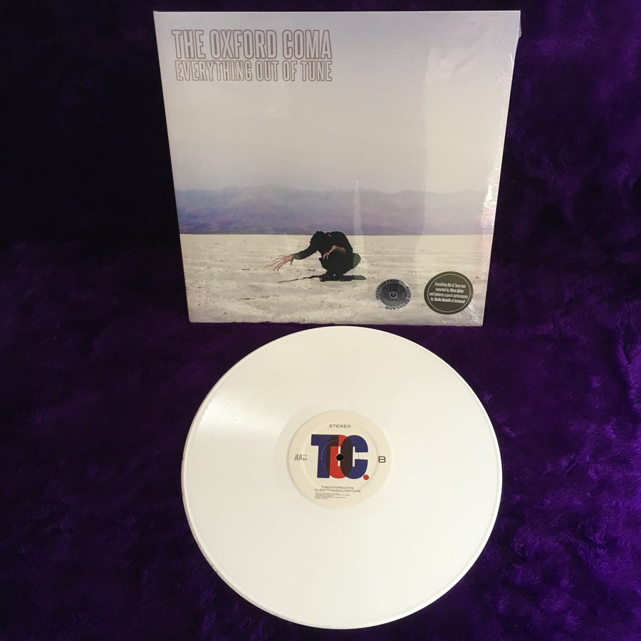 """Image of Everything Out of Tune 12"""" LP White"""
