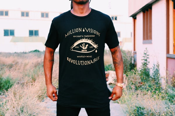 Image of Million Dollar Vi$ion Extended Tee Black/Gold