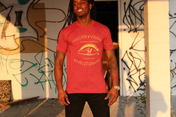 Image of Million Dollar Vi$ion Tee Red/Gold
