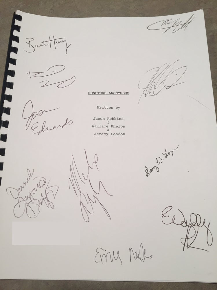 Image of Monsters Anonymous Signed Script *Limited Quantity* *Price Includes S&H