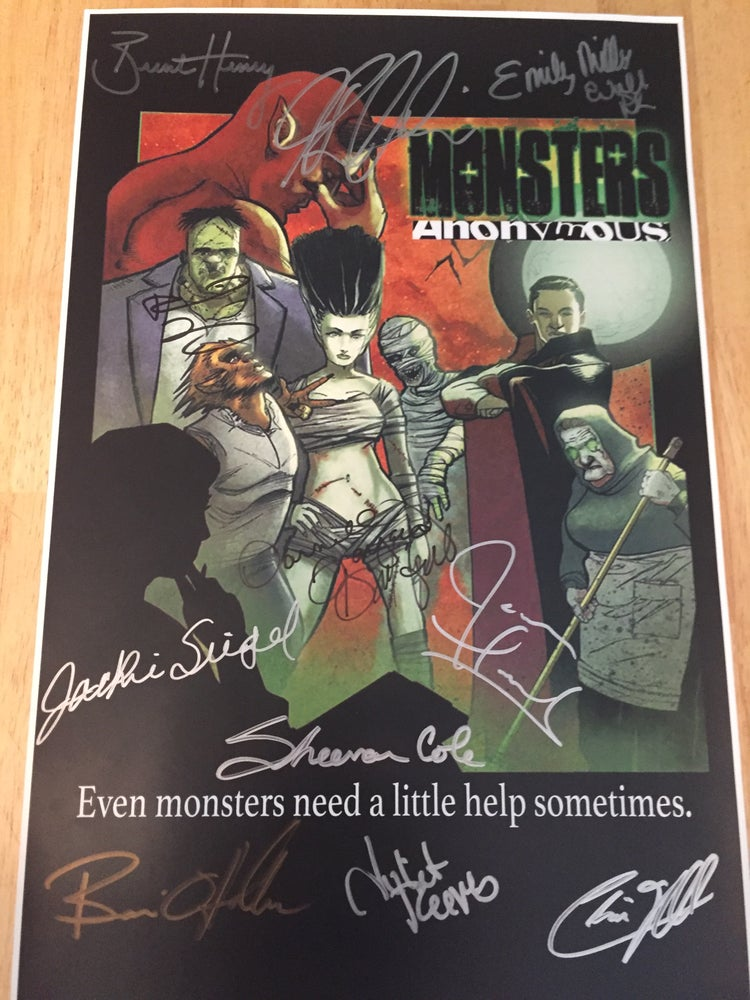 """Image of 11"""" x 17"""" Signed Monsters Anonymous Poster *Limited Quantity* Shipping included in price."""