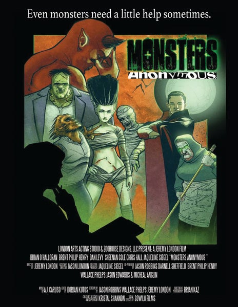 """Image of 11"""" x 17"""" Monsters Anonymous Glossy Poster (Plain) *Price includes S&H"""