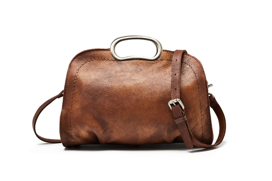 Image of Vegetable Tanned Full Grain Leather Satchel Bag, Women Designer Handbag WF51