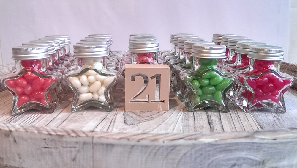 Image of Star Jars filled with Jelly Beans