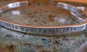 "Image of ""This Too Shall Pass"" Sterling Cuff"
