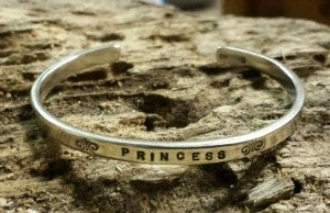 "Image of ""Princess"" sterling cuff"