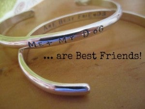 "Image of ""Me + My Dog ~ Are Best Friends"" Sterling Bracelet"