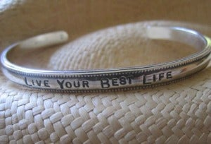 "Image of ""Live Your Best Life"" Sterling Cuff"