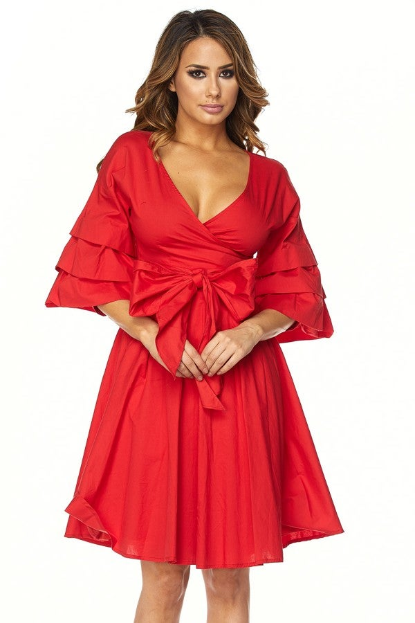 Image of Carrie Wrap Dress