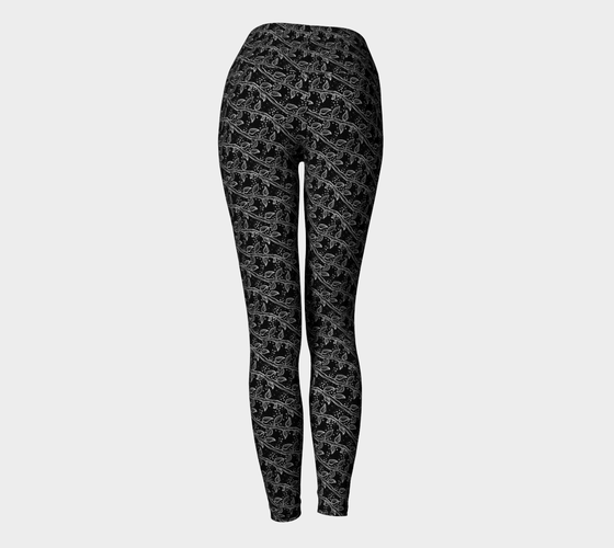 Image of Winter Vines Yoga Leggings