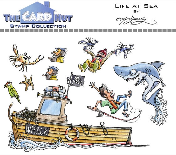 Image of Life at Sea - Stamp set