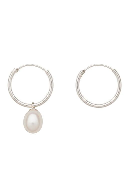 Image of SINGLE PEARL earrings