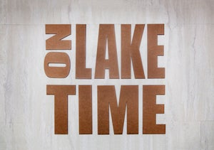 Image of On Lake Time sign