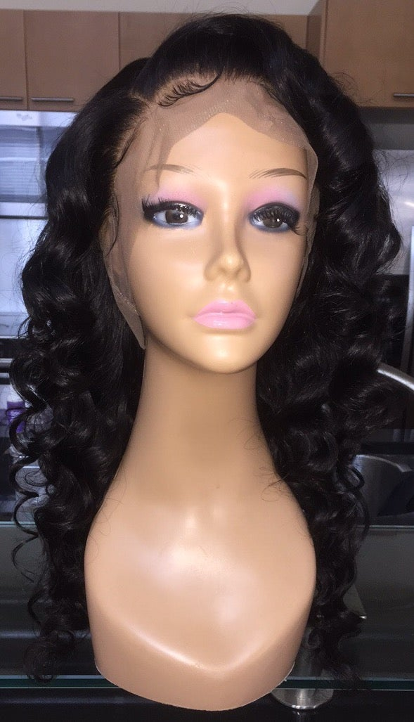 "Image of Indian Natural Waves 18"" 360 Custom Lace Frontal Wig!"