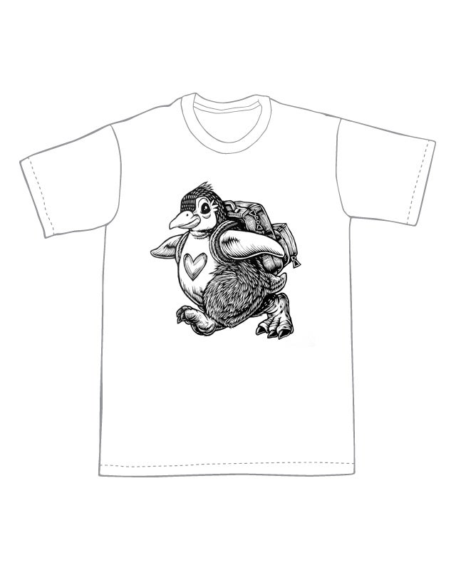 Image of Backpacking Penguin T-shirt **FREE SHIPPING**