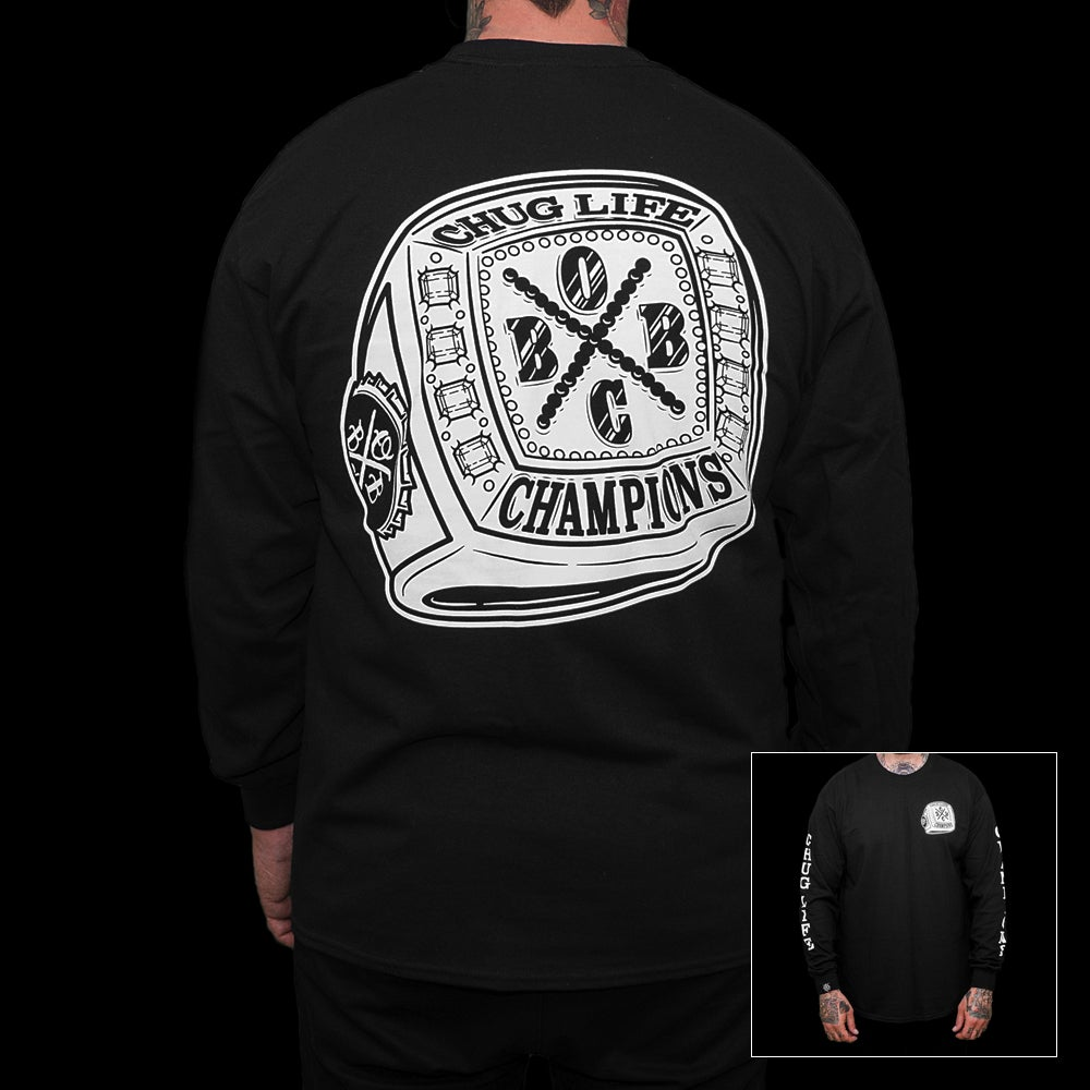 Image of Champions (black L/S tee)