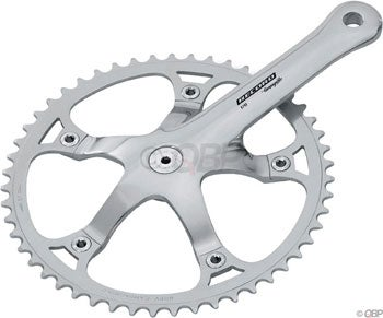 Image of Campagnolo Record Track Crank 165mm, 49t, Polished Aluminum w/BB