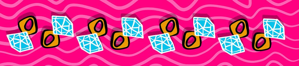 "Image of Diamond Ring Scarf 16"" x 72"""