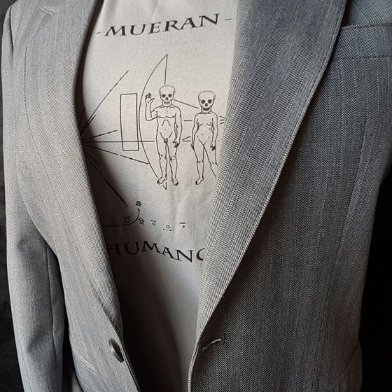 Image of T-SHIRT MODIFIED PIONEER BY MUERAN HUMANOS - SILVER