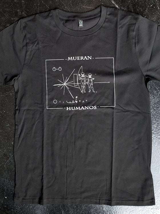 Image of T-SHIRT MODIFIED PIONEER BY MUERAN HUMANOS - BLACK