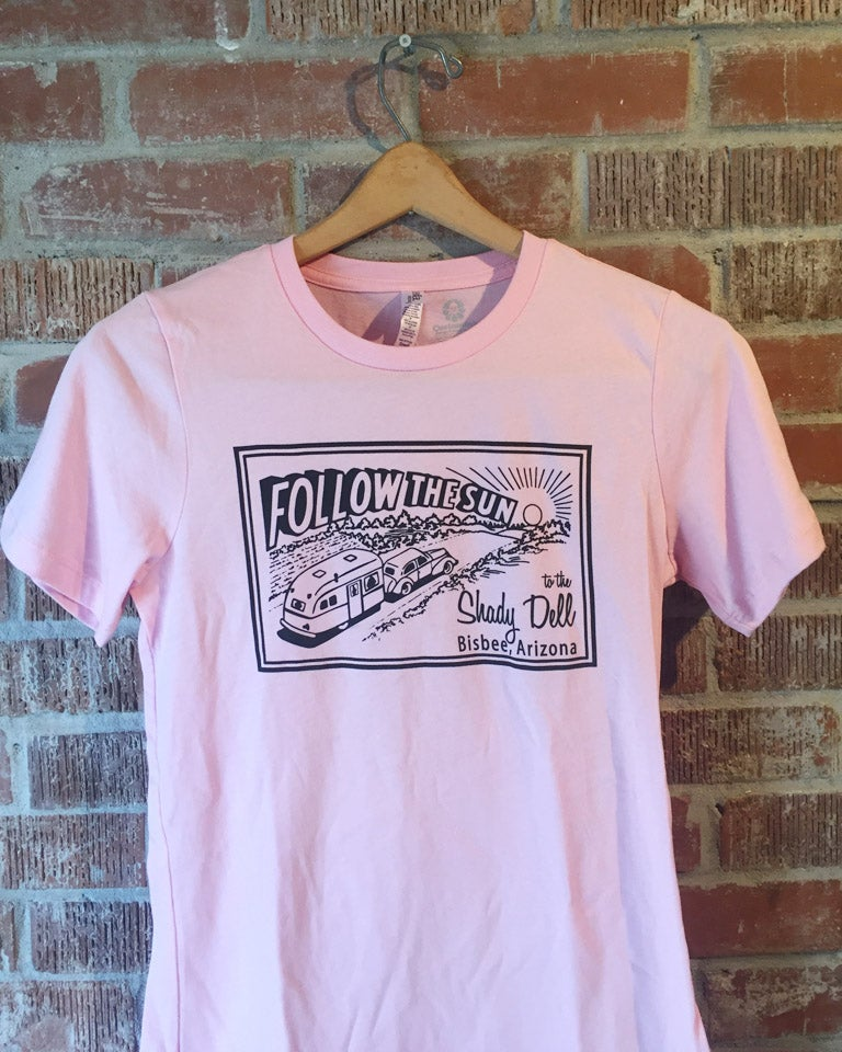 Image of Women's Fitted Tee in Light Pink