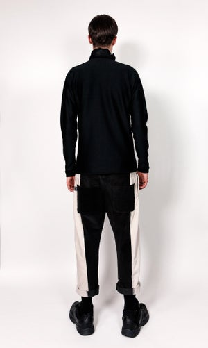 Image of Paneled Corduroy Trousers