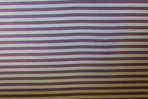 Image of Double Brushed Poly Stripes - Lavendar/Ivory