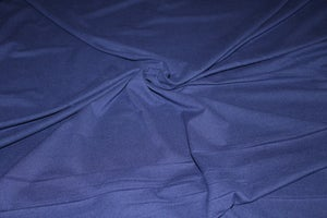 Image of Double Brushed Poly Solids - Navy