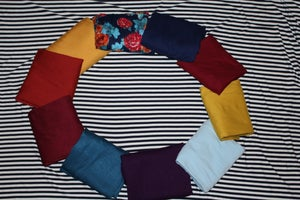 Image of Double Brushed Poly Stripes - Navy/Ivory